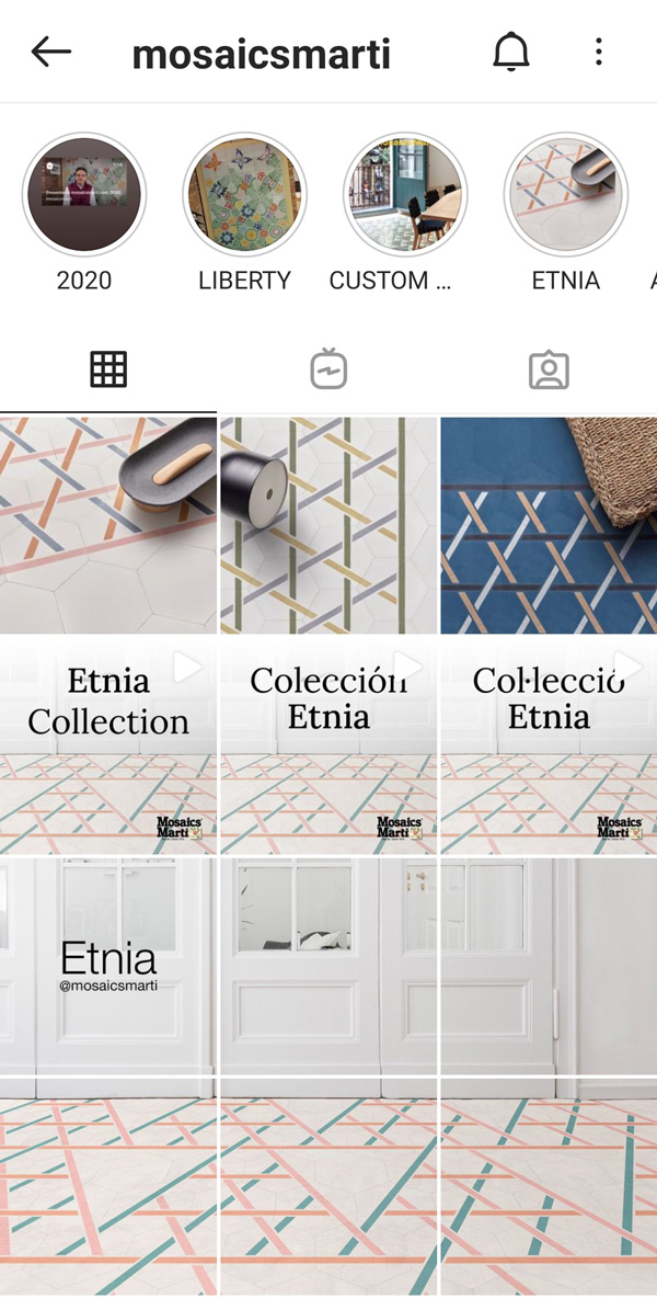 Ejemplo Redes sociales Mosaics Martí Gestión y optimización diseño gráfico Barcelona pillaunticket