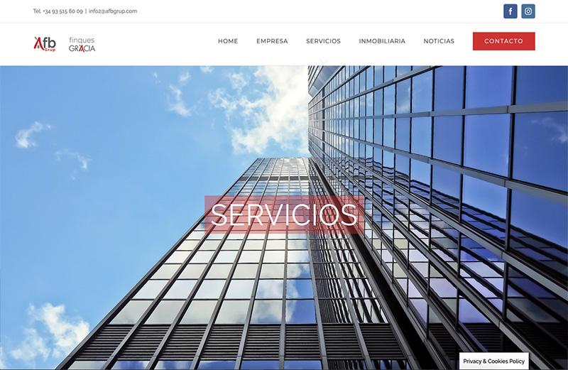 Ejemplo Finques Gracia asesoría y asistencia digital pilla un ticket en Barcelona