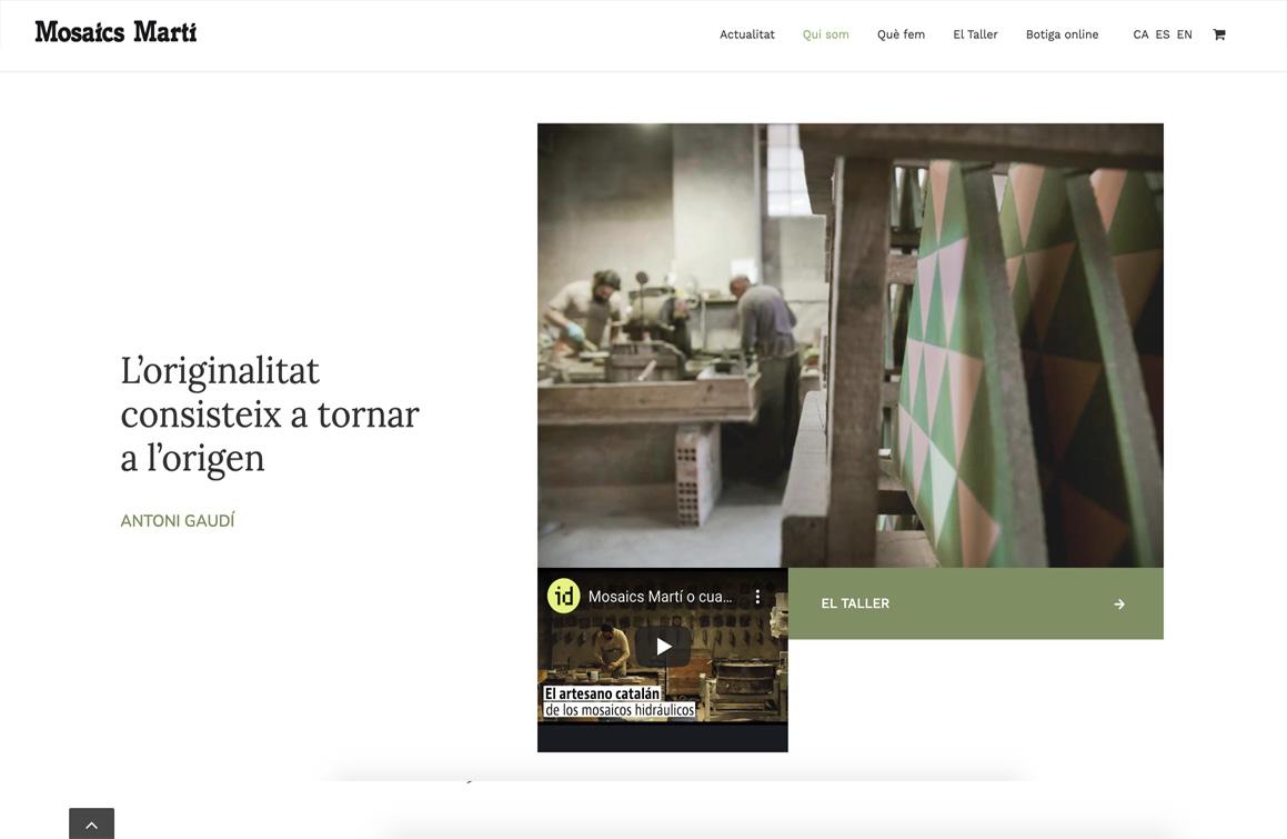 Ejemplo Web Mosaics Martí. Asesoría y asistencia digital Wordpress Eshop Ecommerce Barcelona