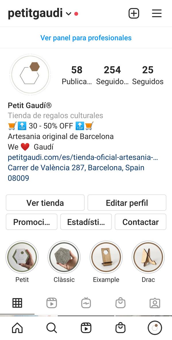 Ejemplo Petit Gaudí de asesoría asistencia digital pilla un ticket. Ver portfolio en redes sociales