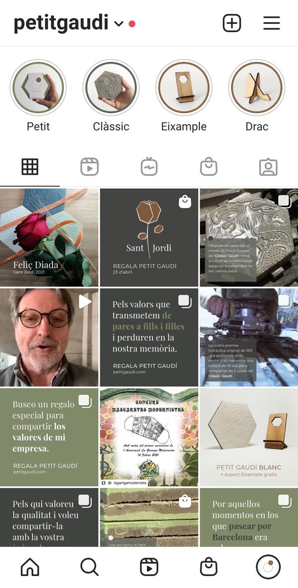 Ejemplo Petit Gaudí. Asesoría digital y gráfica para redes sociales en Barcelona pillaunticket