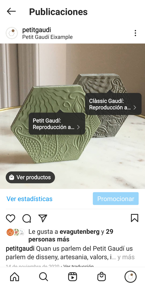 Ejemplo Petit Gaudí. Asistencia digital pillaunticket web Ecommerce Eshop Barcelona