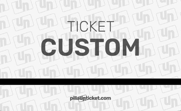 Pilla un ticket de asistencia CUSTOM para resolver problemas a tu medida. Todo lo que necesites, lo tienes en este ticket.