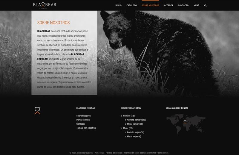 Ejemplo Blackbear Eyewear asesoría y asistencia UX pillaunticket en Barcelona