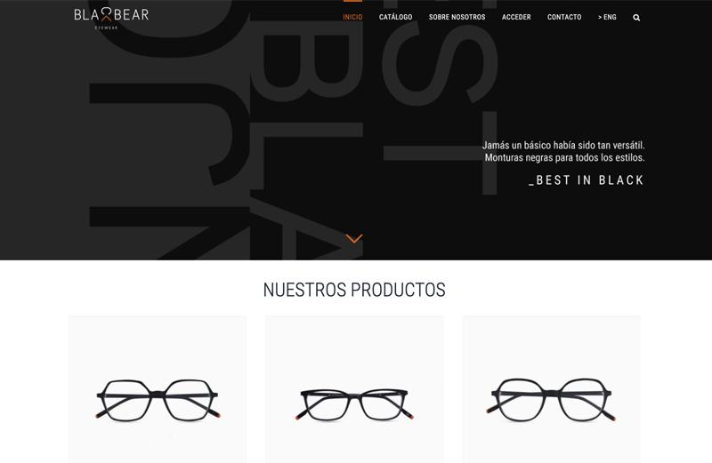 Ejemplo Blackbear Eyewear asesoría y asistencia Woocommerce pillaunticket en Barcelona